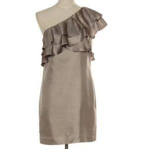 Banana Republic One-Shoulder Ruffled Dress